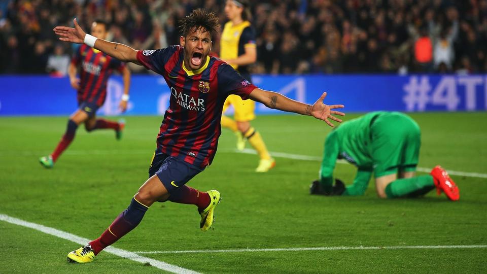 Neymar equalises for Barcelona against Atletico Madrid