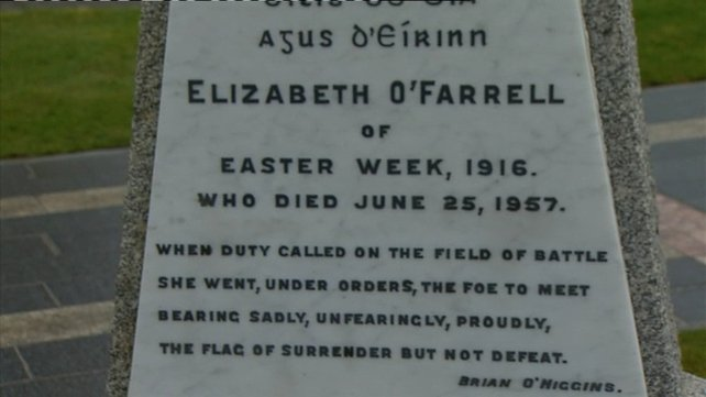 Wreaths were laid at the grave of Cumann na mBan member Elizabeth O'Farrell