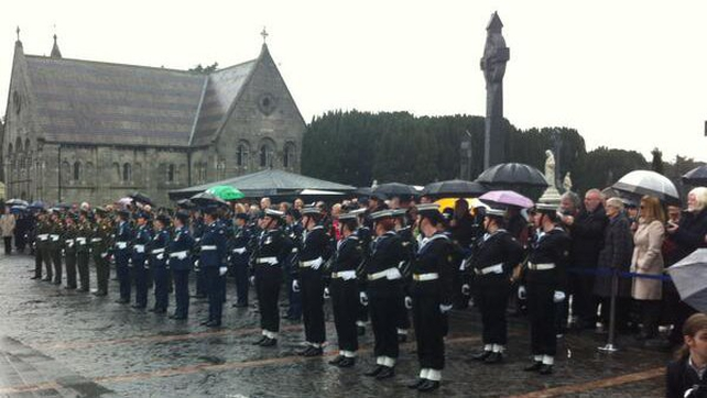 There was an all-female honour guard at Glasnevin this morning (Pic: @defenceforces)