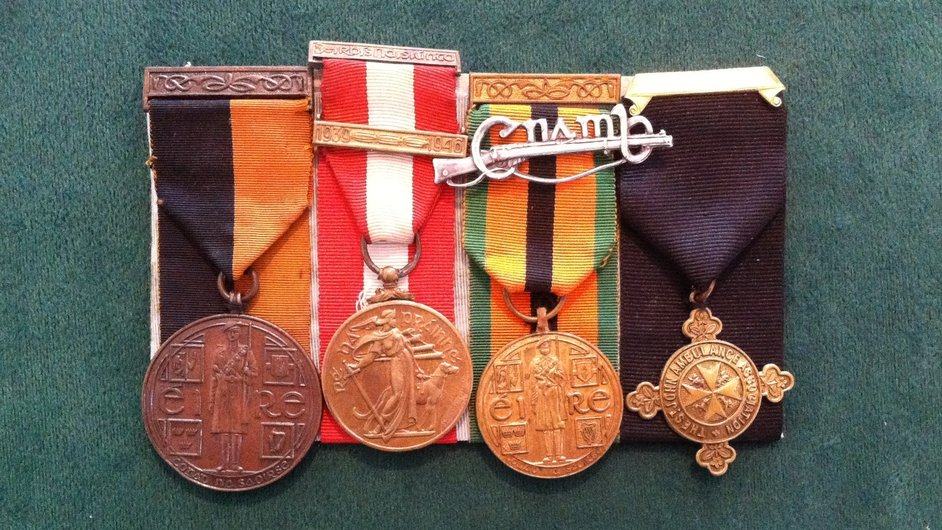 Cumann na mBan medals (Pic: Glasnevin Cemetery Exhibition)