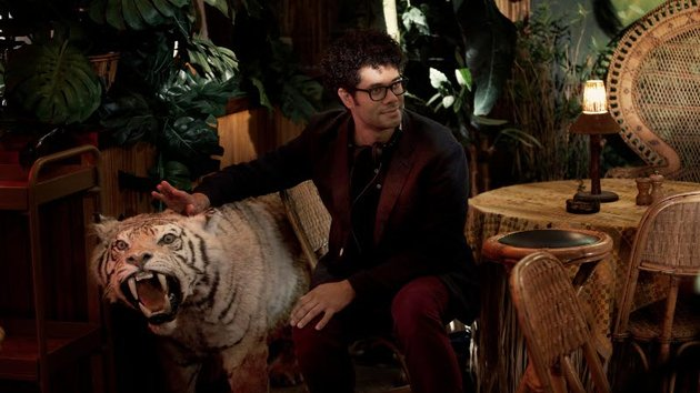 Easy tiger: Ayoade and friend