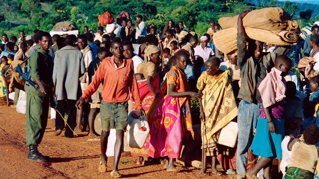 Refugees from Rwanda who were forced to flee their homes