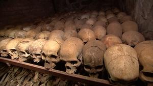 A Rwandan genocide mass grave