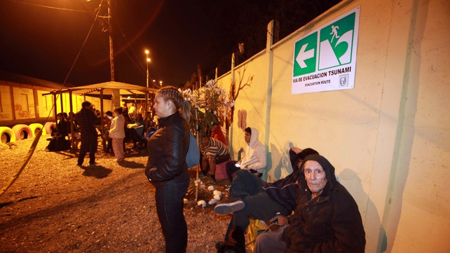 Residents who have fled their homes await the all-clear in Antofagasta