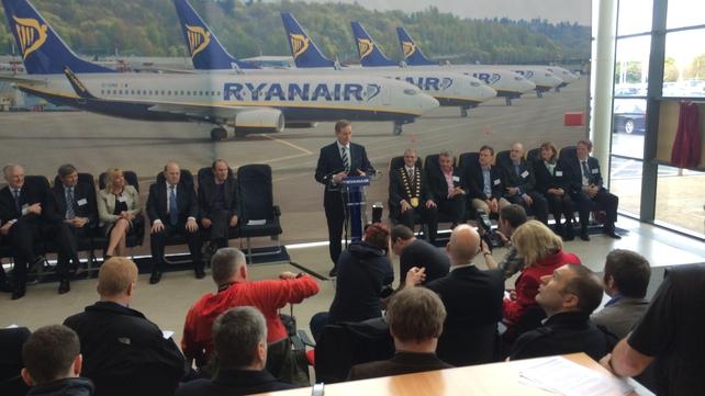 Taoiseach Enda Kenny announced the Ryanair jobs