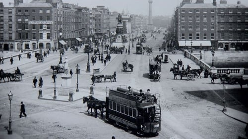 O'Connell Street in Dublin at the turn of the last century