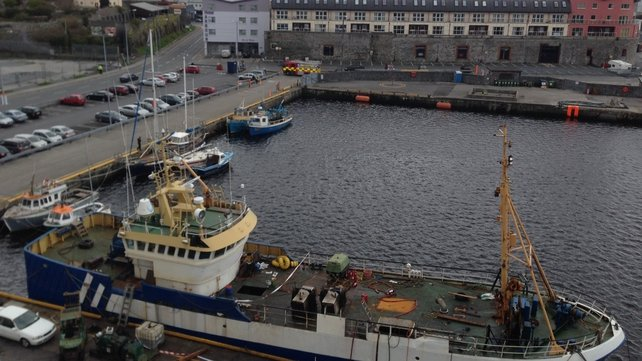 Emergency services were concerned about a container of gas on board the trawler