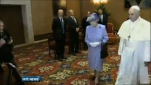 Queen Elizabeth meets Pope Francis for the first time