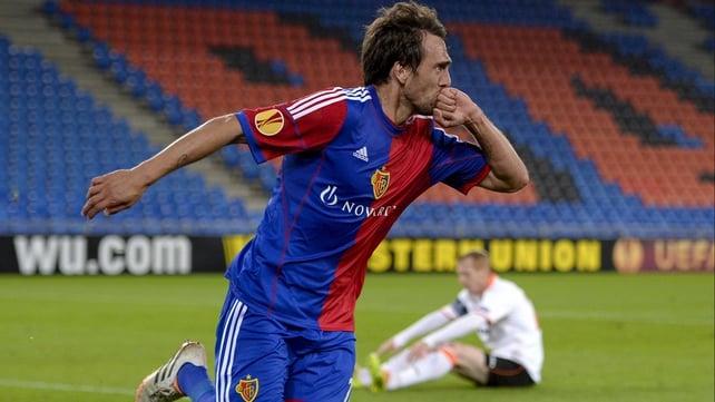 Matias Delgado scored on the double for Basle