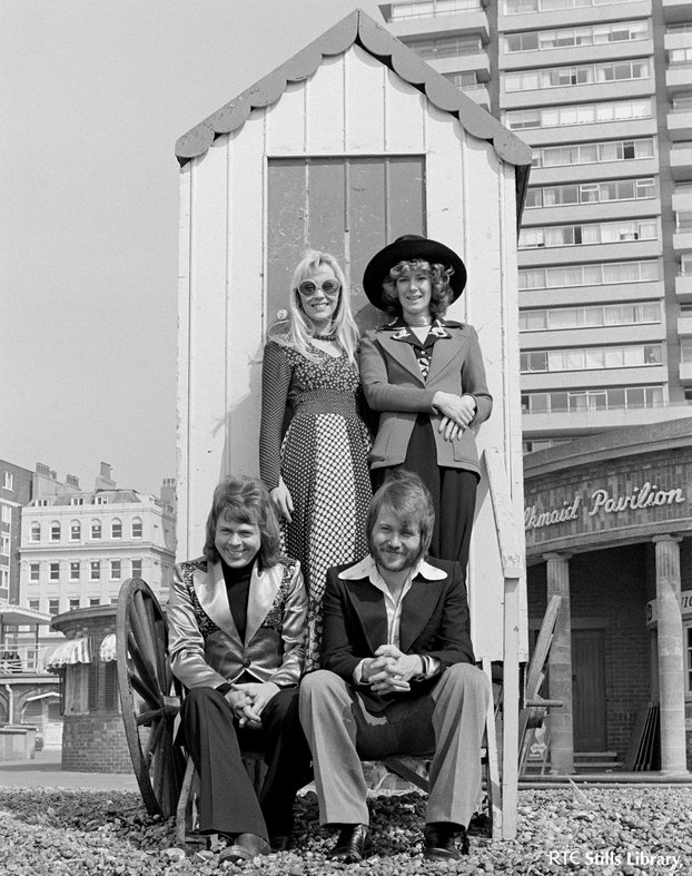 ABBA (1974) on Brighton Beach