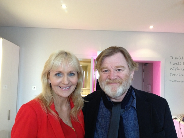 Miriam O'Callaghan and Brendan Gleeson
