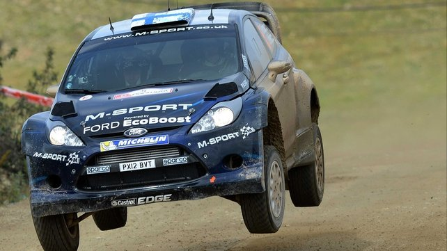 The M-Sport Fords of Mikko Hirvonen (pictured) and Ott Tanak dominated on the opening day of action at Rally de Portugal