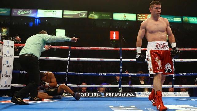Eamonn O'Kane stopped Alvaro Gaona in impressive fashion