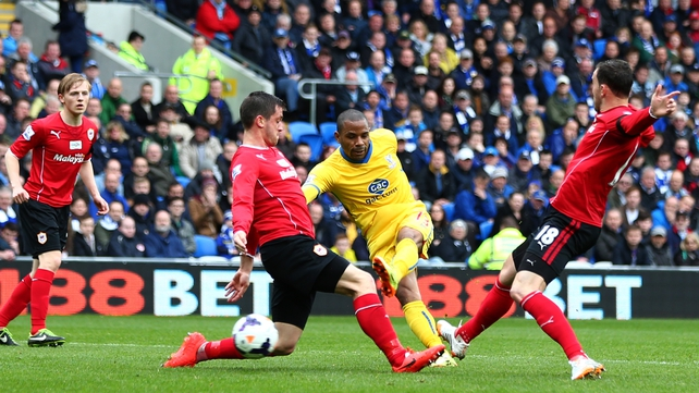 Jason Puncheon gives Palace the lead at Cardiff