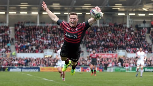 Chris Ashton touches down for Saracens