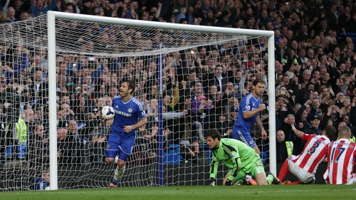 Frank Lampard scored the rebound after his penalty was saved