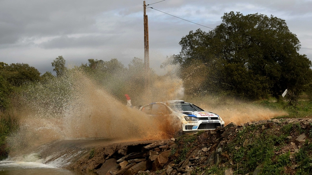 Sebastien Ogier made a big splash on the penultimate day of the Rally de Portugal