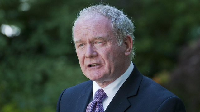 Martin McGuinness said an element within the PSNI is against the peace process