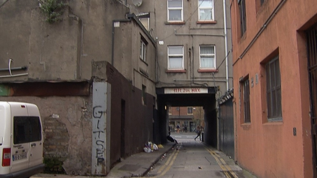 The incident occurred in Kelly's Row off Dorset Street in Dublin