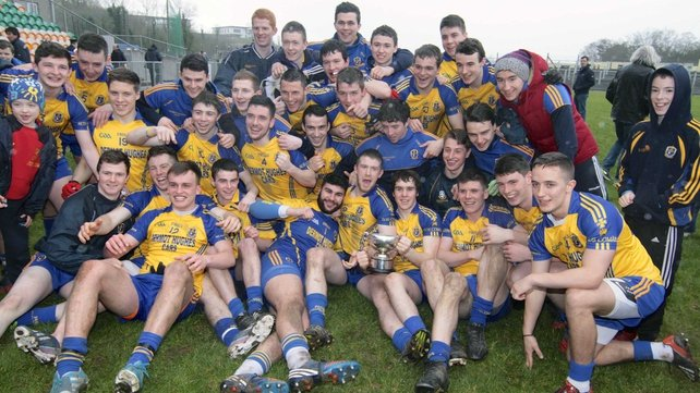 The Roscommon team celebrate after winning the title