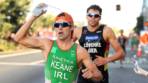 Bryan Keane takes water during the Auckland event