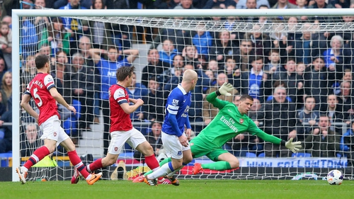 Steven Naismith gave Everton the lead in the 14th minute