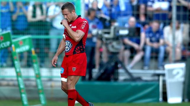 Jonny Wilkinson injured his hamstring playing against Leinster