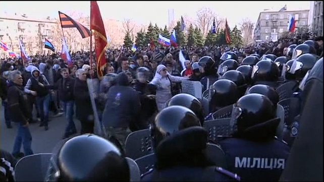 A reporter said police did not use force against the demonstrators