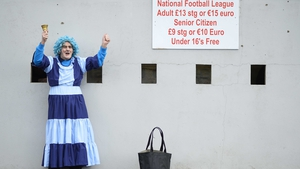 Dublin fan Tony Broughan outside Healy Park in Omagh