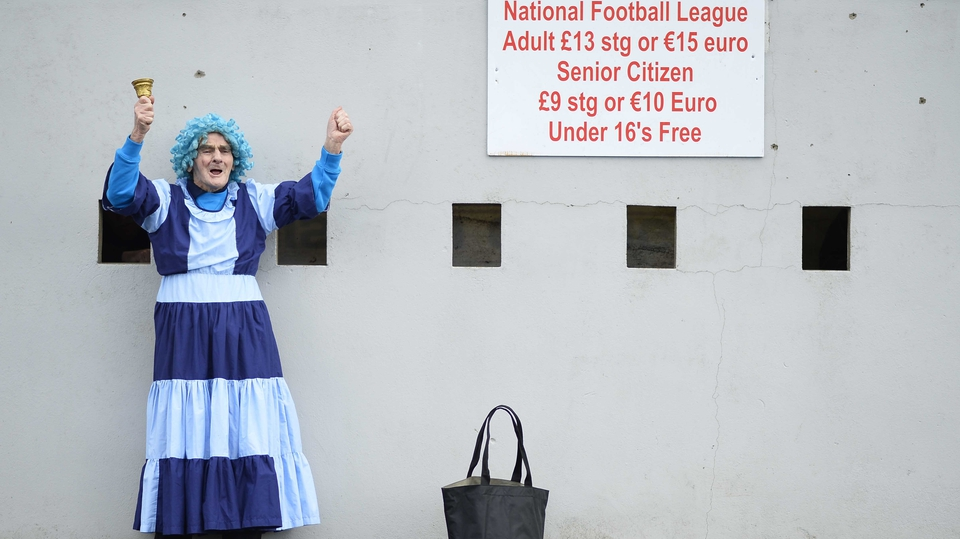 Dublin fan Tony Broughan outside Healy Park in Omagh