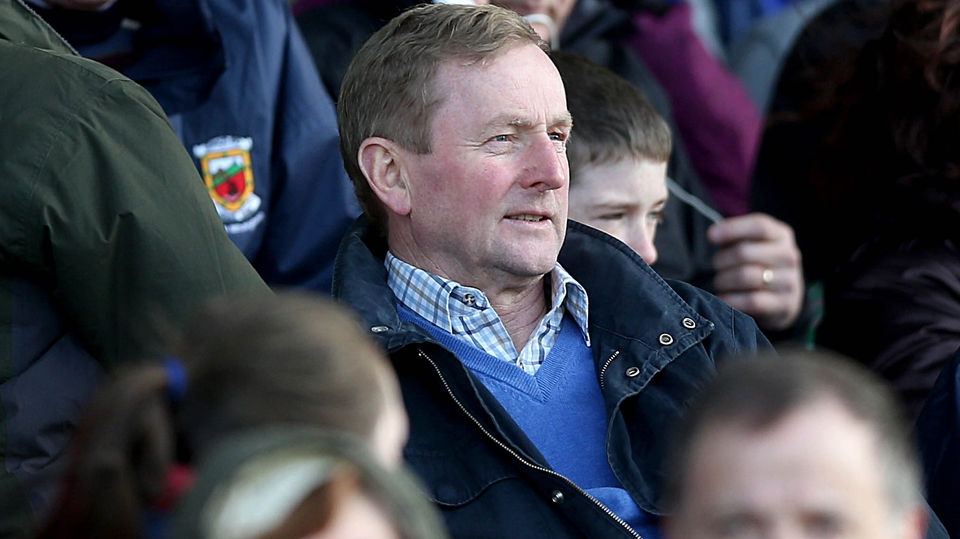 Enda Kenny was at McHale Park in Castlebar to see Mayo beat Derry