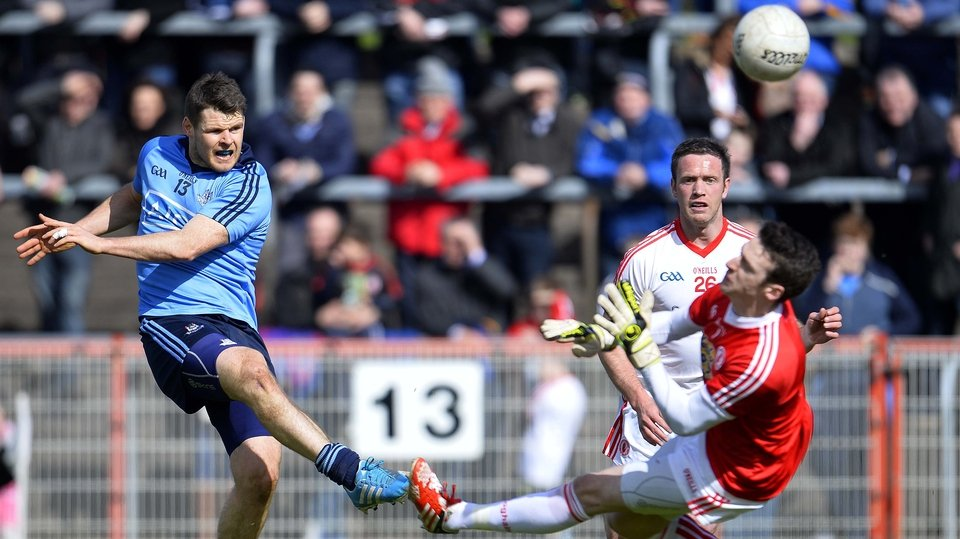 Kevin McManamon was among the Dublin goalscorers as they beat Tyrone at Healy Park