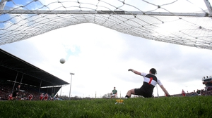 Alan Freeman scored from the penalty spot in Mayo's eight-point win over Derry