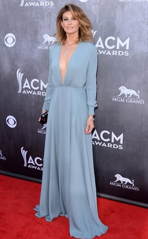 Faith Hill was a vision in her etheral gown