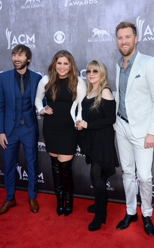 Stevie Nicks poses with Lady Antebellum