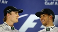 Rosberg is not really German, jokes Hamilton