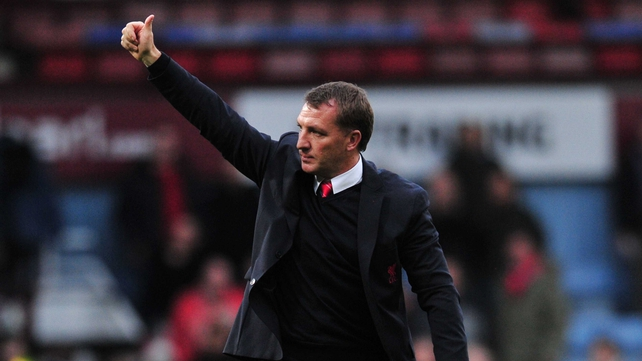 Brendan Rodgers insists Liverpool aren't feeling the heat despite a potentially decisive meeting with Manchester City on Sunday