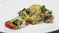 MC TX12 - Veal ravioli, mushroom sauce, fig + pancetta - Nick Watson's recipe from the pasta challenge
