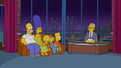 The Simpsons with David Letterman
