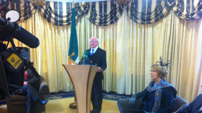 President Higgins said the visit is 'very important in many ways'