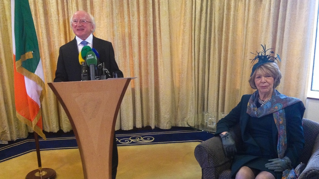 The President said he is very, very honoured to represent the Irish people on the visit.
