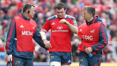 Peter O'Mahony will be watching from the sidelines as he recovers from a shoulder injury