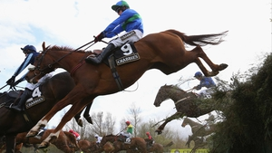 He'llberemembered makes light of jumping Becher's Brook during the Topham