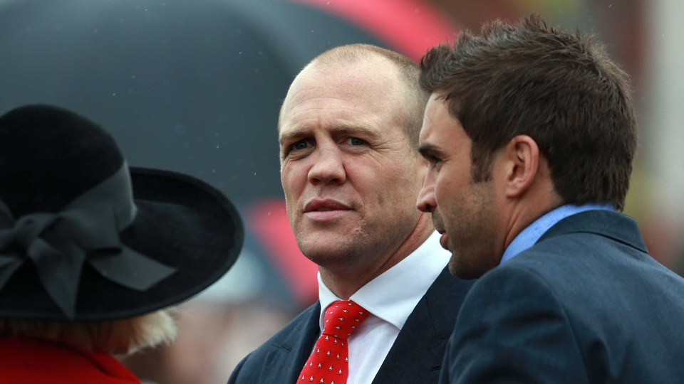 Rugby star Mike Tindall was on Merseyside as an owner to cheer on his Monbeg Dude