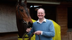 The morning after the night before -  Grand National-winning trainer Dr Richard Newland casted a weary figure on Sunday morning while Pineau De Re was bright as a button