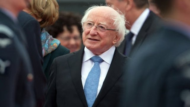 President Higgins arrived in London yesterday ahead of the start of his State visit