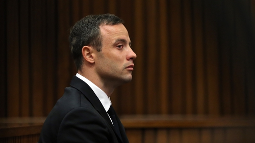 Oscar Pistorius described how he first met model Reeva Steenkamp