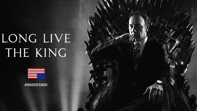 Kevin Spacey on the Iron Throne