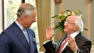 Prince Charles and President Higgins met at the Irish Embassy in London