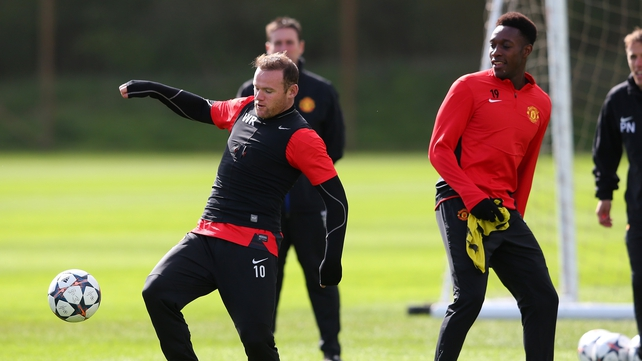 Wayne Rooney appeared in good spirits during training